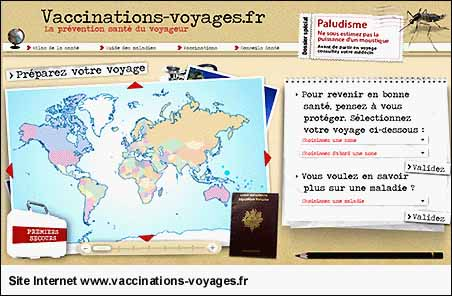 Site Internet www.vaccinations-voyages.fr