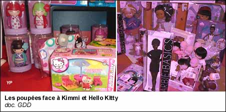 les poupées, Barbie, Hello Kitty et Kimmi