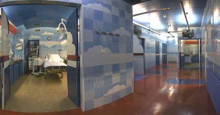 salle d'accouchement de la clinique Lafourcade