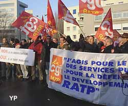manifestation contre la privatisation de la RATP