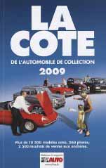 La cote de l'automobile de collection - 2009